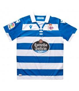 Camiseta de fútbol para hombre Macron Primera equipación RC Deportivo 2019/20 al mejor precio en tu tienda de fútbol online chemasport.es