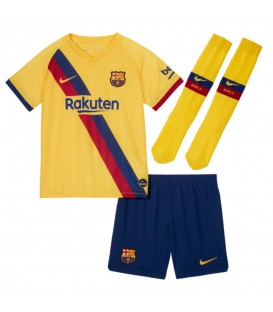 Conjunto para niños Nike Segunda equipación FC Barcelona 2019/20 de color amarillo al mejor precio en tu tienda de fútbol online