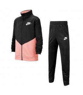 Chándal para niños Nike Sportswear Ply Futura BV3617-013 de color negro y rosa al mejor precio en chemasport.es