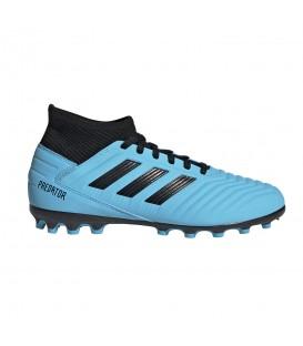Comprar botas de fútbol para niños adidas Predator 19.3 AG Junior G25799 de color azul al mejor precio en chemasport.es