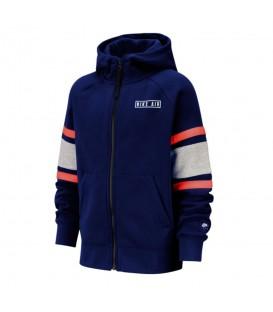 Chaqueta para niños Nike Air Full-Zip Hoodie con cremallera de color azul al mejor precio en tu tienda de deportes online chemasport.es