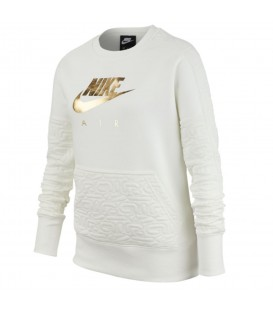 Sudadera para niños Nike Air G NSW BV2703-133 de color blanco al mejor precio en tu tienda de deportes online chemasport.es