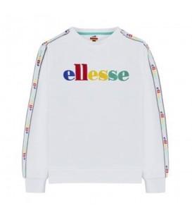 Sudadera para mujer con letras bordadas de colores de la marca Ellesse barata en tu tienda de marcas online Chema Sneakers.