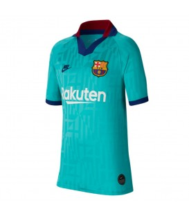 Camiseta para niños Nike FC Barcelona 2019/20 tercera equipación de color verde al mejor precio en chemasport.es