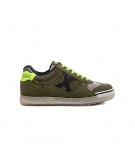 Zapatillas de fútbol sala para niños Munich G-3 Kid Glow de color verde al mejor precio en tu tienda de deportes online barata chemasport.es