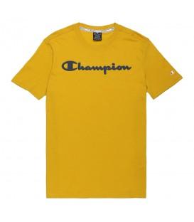 Camiseta para hombre Champion Crewneck de color mostaza al mejor precio en tu tienda de deportes online chemasport.es