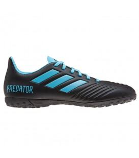 Botas de fútbol para hombre adidas Predator 19.4 TF F35636 de color negro y azul al mejor precio en tu tienda de fútbol online chemasport.es