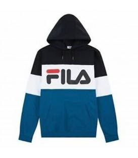 Sudadera para hombre Fila Night Blocked de color negro y azul al mejor precio en tu tienda de moda online en Pontevedra Chema Sneakers.