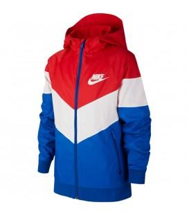 chaqueta nike sportswear windrunner para niño en color rojo en tu tienda online chemasport.es