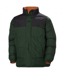 Cazadora reversible para hombre Helly Hansen YU Midlayer 53380-454 de color verde y naranja al mejor precio en tu tienda de deportes chemasport.es