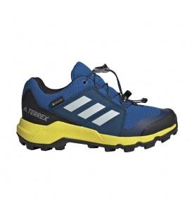 Deportivas de trail para mujer y niños adidas Terrex GTX de color azul royal al mejor precio en tu tienda de deportes online chemasport.es