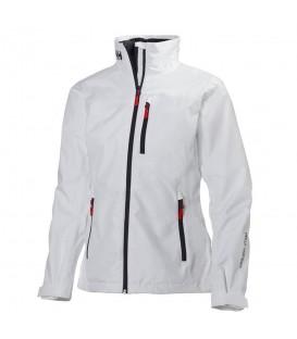 Cazadora para mujer Helly Hansen Crew Midlayer W 30317_002 de color blanco al mejor precio en tu tienda de deportes online chemasport.es