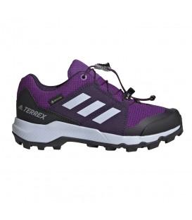 Deportivas de trail para mujer y niños adidas Terrex de goretex en color violeta al mejor precio en chemasport.es