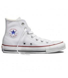 Deportivas de Converse All Star HI de piel de color blanco baratas en tu tienda de deportes online chemasport.es