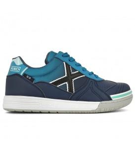 zapatillas para futbol sala en color azul marino de munich para hombre en tu tienda online chemasport.es