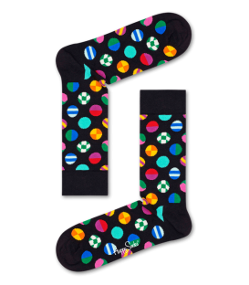 calceitnes de happy socks dot sock en color negro con estampada de circulos al mejor precio