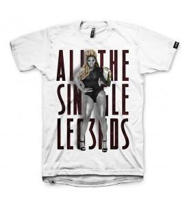 Camiseta unisex para hombre y mujer Leg3nd Beyonce de color blanco y manga corta al mejor precio en tu tienda de deportes online chemasport.es