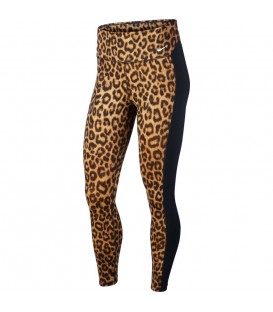 Mallas de entrenamiento para mujer Nike ONE con estampado de leopardo y tecnología Dri-Fit al mejor precio en chemasport.es