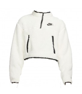 SUDADERA NIKE ¼ ZIP FLEECE CROP TOP