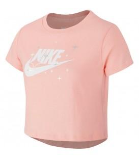 Camiseta para niños Nike Sportswear Cropped de color rosa en tu tienda de deportes barata online chemasport.es