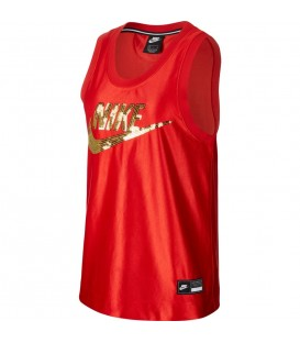 Camiseta de tirantes para mujer Nike Sportswear de color rojo al mejor precio en tu tienda de deportes online chemasport.es