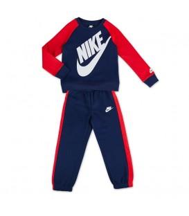 Chándal para niños Nike Futura Blu de color azul y rojo al mejor precio en tu tienda de deportes online chemasport.es