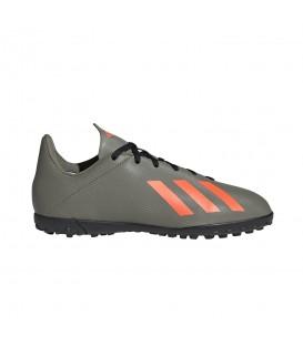 Botas de fútbol para niños adidas X 19.4 TF J de color verde al mejor precio en tu tienda de deportes online chemasport.es