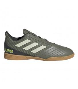 Zapatillas de fútbol sala para niños adidas Predator 19.4 In J de color verde al mejor precio en tu tienda de deportes online chemasport.es