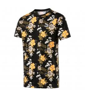 camiseta puma aop tee para hombre en color negro en tu tienda online chemasport.es