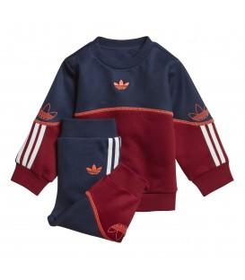 Chándal para niños pequeños adidas Outline Crew K de color marino y granate al mejor precio en tu tienda de deportes online chemasport.es