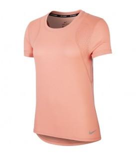 camiseta nike run top para mujer en color rosa al mejor precio