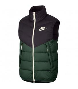Chaleco para hombre Nike Sportswear Windrunner de color negro y verde al mejor precio en tu tienda de deportes online chemasport.es