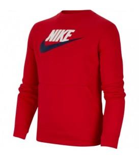 sudadera nike sportswear club fleece para niño en color rojo al mejor precio