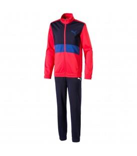 chandal puma para niño en color rojo al mejor precio en tu tienda online chemasport,es