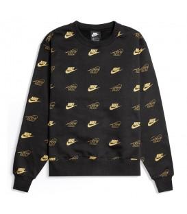 Sudadera para mujer Nike Sportswear con logos dorados al mejor precio en tu tienda de deportes online chemasport.es