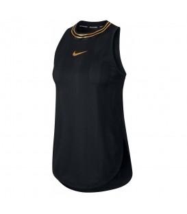 Camiseta de fitness para mujer Nike Icon Clash de color negro con detalles dorados al mejor precio en tu tienda de deportes online chemasport.es