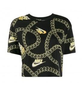 Camiseta para mujer Nike Sportswear Icon Clash de color negro con estampado de cadenas al mejor precio en chemasport.es
