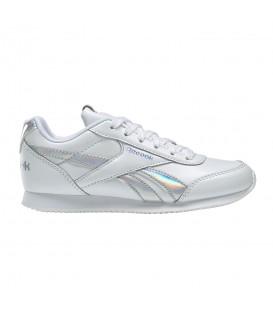 Deportivas de moda para niños Reebok Royal Classic Jog 2 DV9019 de color blanco con cordones al mejor precio en chemasport.es