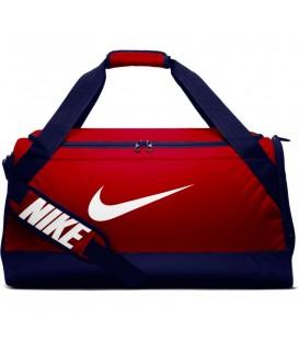 Bolsa de entrenamiento mediana para el gimnasio Nike Brasilia de color rojo y azul marino al mejor precio en tu tienda de deportes online chemasport.es