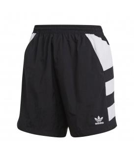 Pantalón corto para mujer adidas Large Logo FM2638 de color negro y blanco al mejor precio en tu tienda de deportes online chemasport.es