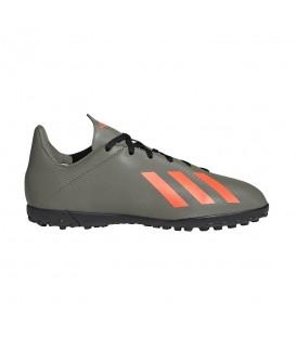 Botas de fútbol para niños adidas X 19.4 TF J de color verde al mejor precio en tu tienda de fútbol barata online chemasport.es