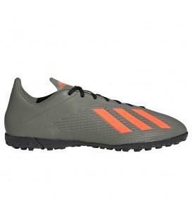 Botas de fútbol para hombre adidas X 19.4 TF de color verde al mejor precio en tu tienda de fútbol online chemasport.es