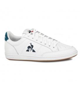 Deportivas para hombre confeccionadas en piel Le Coq Sportif Court Clay Bold de color blanco y azul al mejor precio en chemasport.es