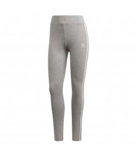 Mallas de entrenamiento adidas 3 bandas de color gris al mejor precio en tu tienda de deportes online chemasport.es