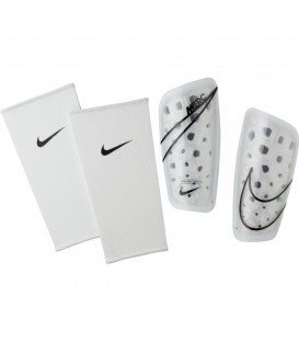 Espinilleras de fútbol Nike Mercurial Lite de color blanco al mejor precio en tu tienda de fútbol online barata chemasport.es