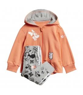 Chándal para niños adidas Disney Minnie Mouse de color naranja al mejor precio en tu tienda de deportes online chemasport.es