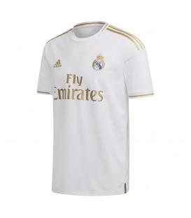 Camiseta unisex adidas primera equipación Real Madrid 2019/20 de color blanco al mejor precio en tu tienda de deportes chemasport.es