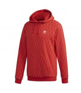 Sudadera para hombre con capucha adidas Allover print de color rojo al mejor precio en tu tienda de moda online chema sneakers en Pontevedra