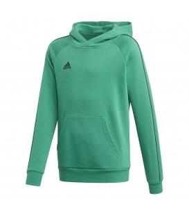 Sudadera de fútbol para niños adidas Core 18 junior de color verde al mejor precio en tu tienda de deportes online chemasport.es