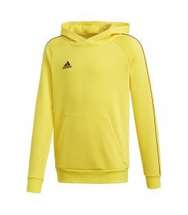 Sudadera de fútbol para niños adidas CORE 18 Junior de color amarillo FS1892 al mejor precio en chemasport.es